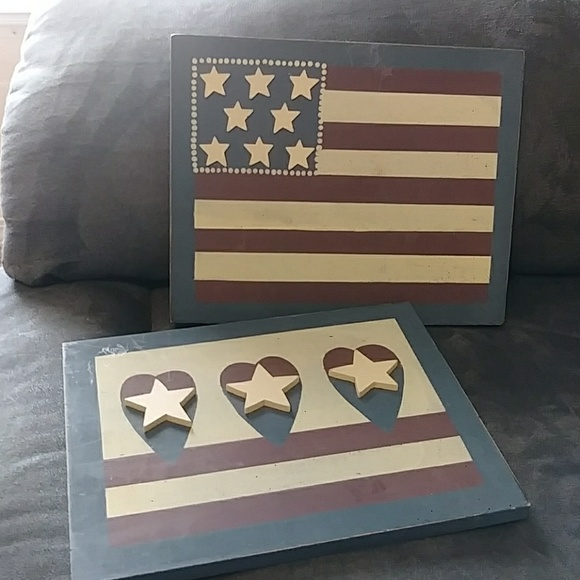 Rustic Americana Wooden Signs